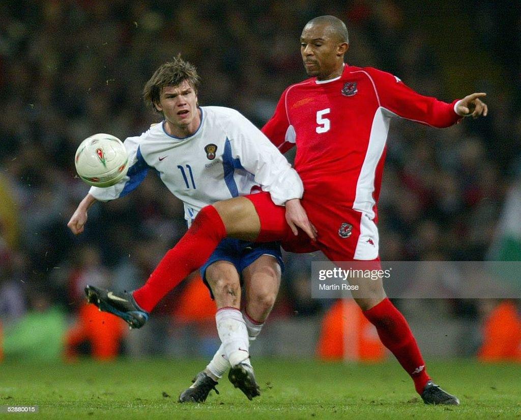 Fussball: EM Qualifikation 2003, WAL - RUS : News Photo