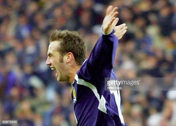 Qualifikation 2003, Glasgow; Schottland - Niederlande ; Jubel James McFadden/SCO nach seinem Tor zum 1:0