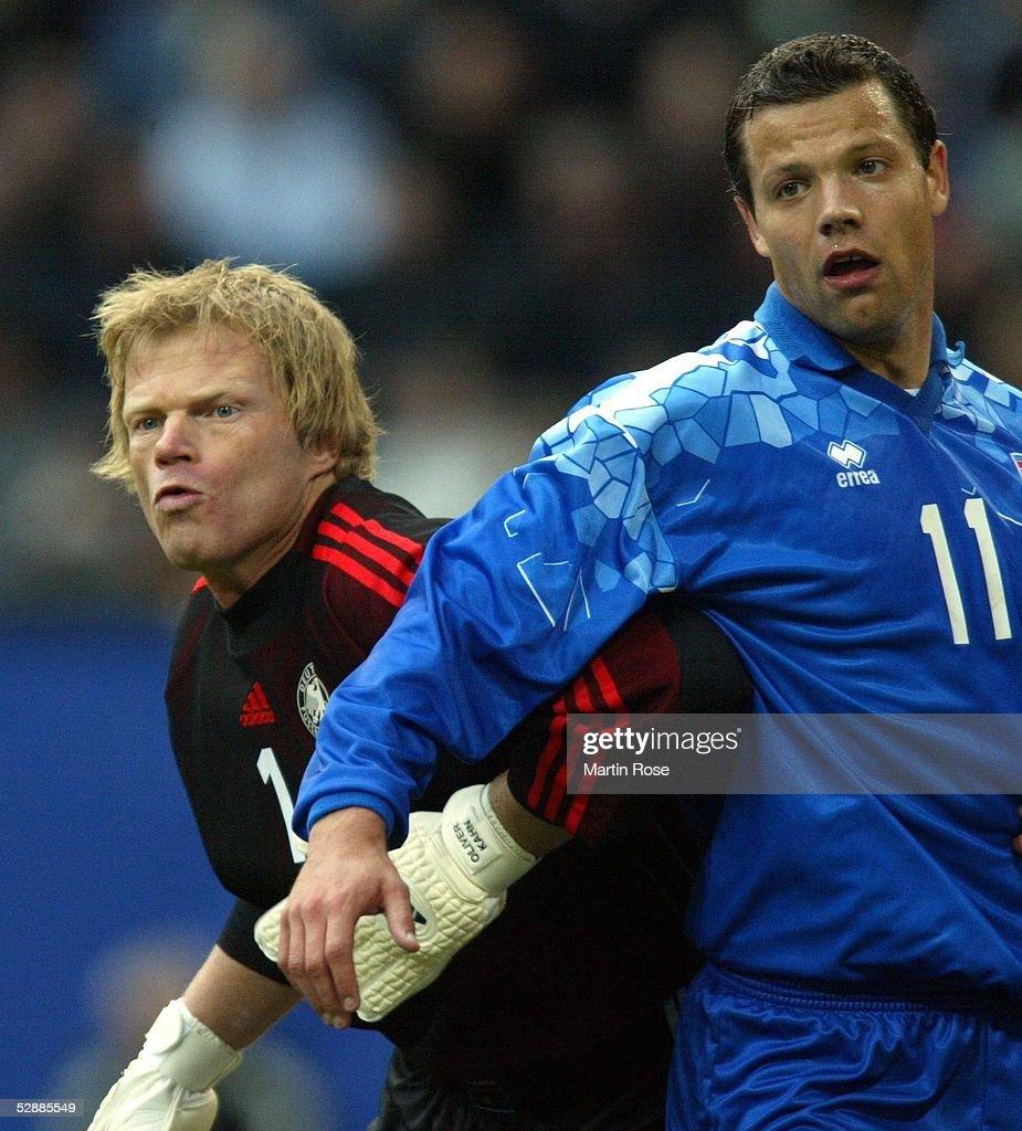 Em Qualifikation 2003 Hamburg Deutschland Island 3 0 Torwart Photo D Actualite Getty Images