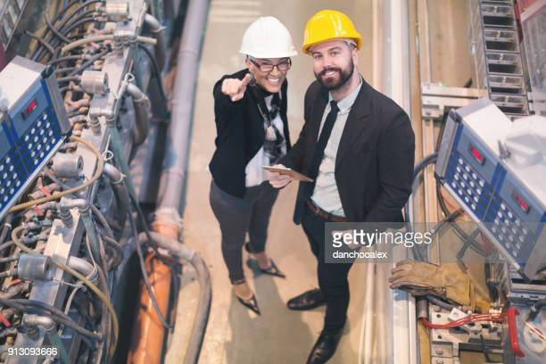 Quality inspectors at the factory