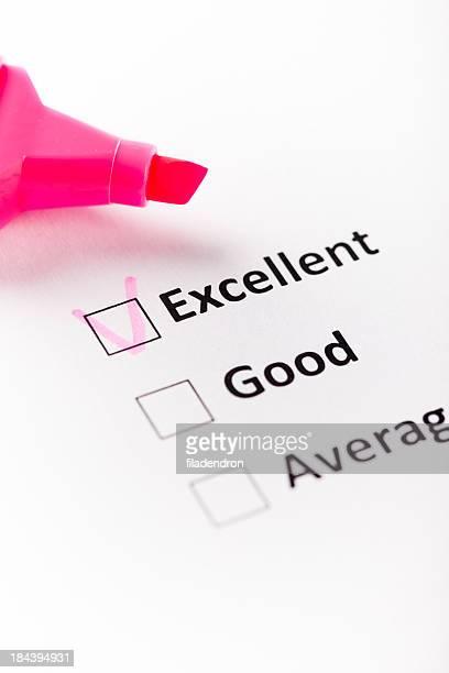quality survey - checkbox stockfoto's en -beelden