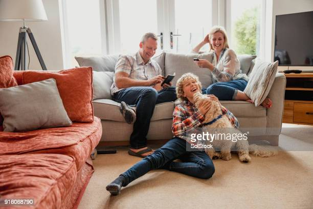 quality time with family - family home stock photos and pictures