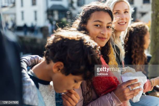quality time with the family - cornish pasty stock pictures, royalty-free photos & images