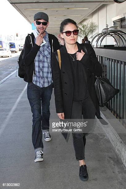 Qualls and Alexa Davalos are seen at LAX on October 06 2016 in Los Angeles California