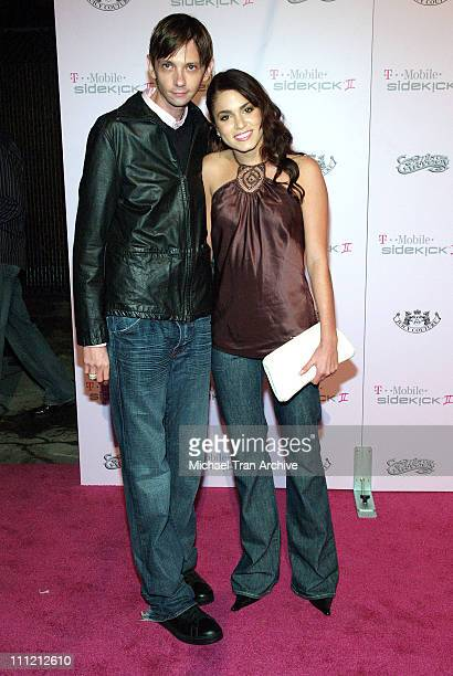 DJ Qualls and Nikki Reed during TMobile Limited Edition Sidekick II Launch Arrivals at TMobile Sidekick II City in Los Angeles California United...