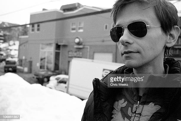 DJ Qualls at Activision St Jude House during 2005 Sundance Film Festival Park City Black White Photography by Chris Weeks in Park City Utah United...