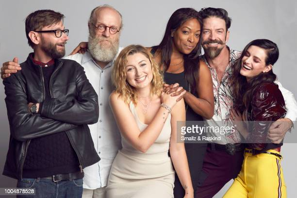 DJ Qualls Russell Hodgkinson Anastasia Baranova Kellita Smith Keith Allan and Lydia Hearst from SYFY's 'Z Nation' pose for a portrait in the Getty...