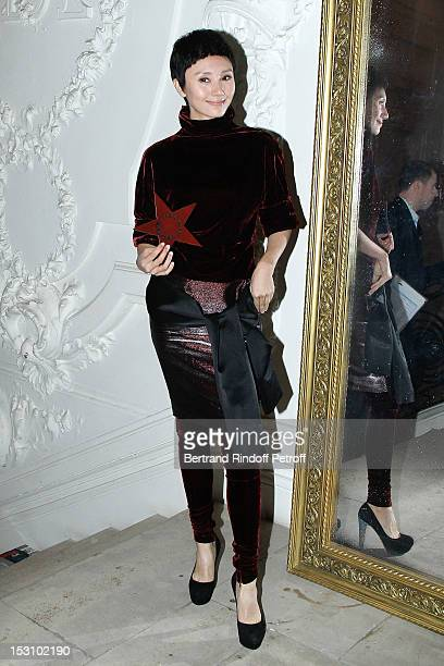 Quan Yuan attends the Jean Paul Gaultier Spring / Summer 2013 show as part of Paris Fashion Week at on September 29, 2012 in Paris, France.