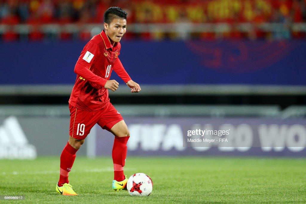 Quang Hai Nguyen of Vietnam in action during the FIFA U-20 World Cup Korea Republic 2017 group E match between Vietnam and New Zealand at Cheonan Baekseok Stadium on May 22, 2017 in Cheonan, South Korea.