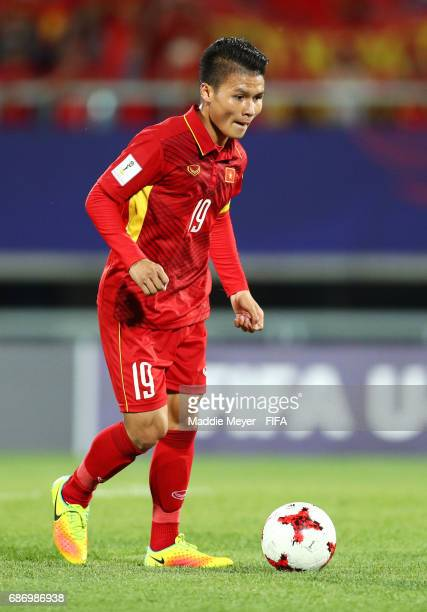Quang Hai Nguyen of Vietnam in action during the FIFA U20 World Cup Korea Republic 2017 group E match between Vietnam and New Zealand at Cheonan...