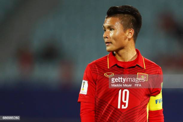 Quang Hai Nguyen of Vietnam looks on during the FIFA U20 World Cup Korea Republic 2017 group E match between Vietnam and New Zealand at Cheonan...