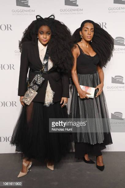 Quann and Cipriana Quann attend the 2018 Guggenheim International Gala PreParty made possible by Dior at Solomon R Guggenheim Museum on November 14...