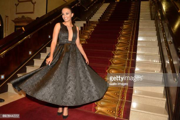 Quantico actress Pearl Thusi during the Naledi Theatre Awards at the Lyric Theatre in Gold Reef City on June 05 2017 in Johannesburg South Africa The...