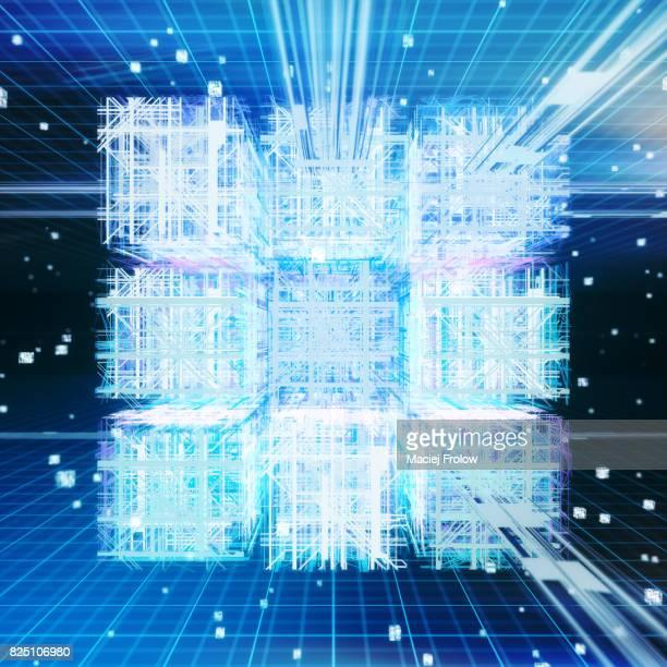 Quantum computing, conceptual artwork
