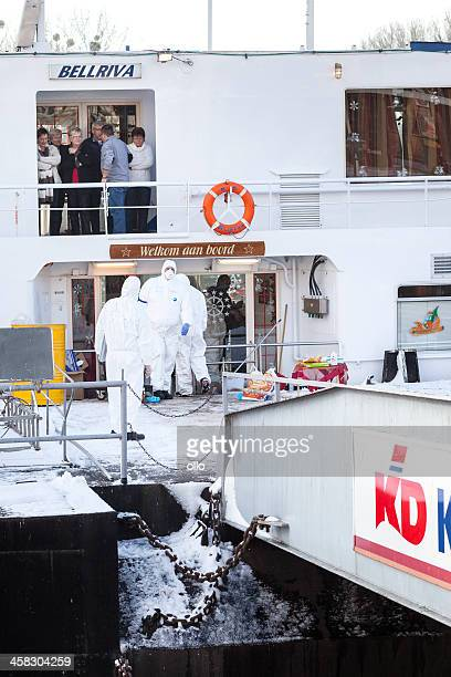 quarantine on dutch cruiseship bellriva - norovirus stock photos and pictures