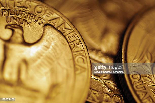 US quarter coins, part of