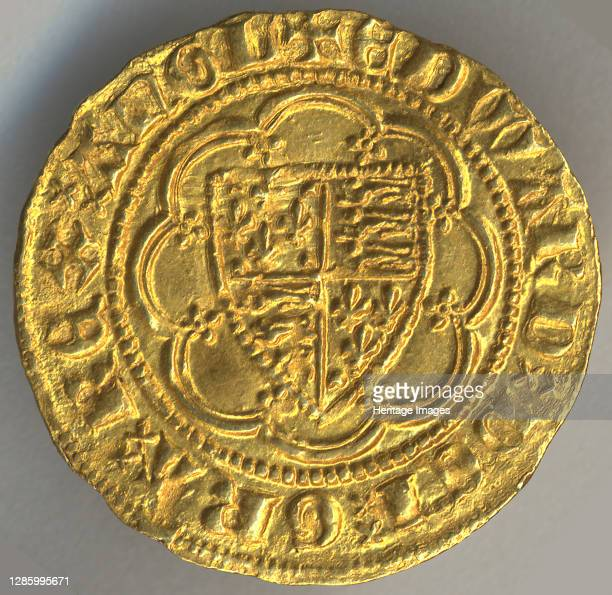 Quarter Noble of Edward III , British, 1327-77. Artist Unknown.