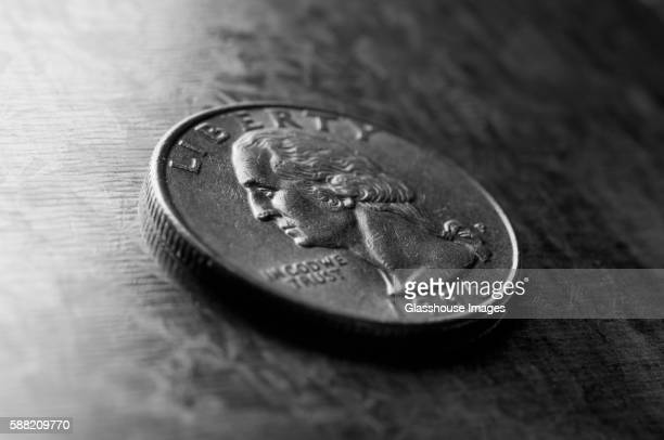 1996 us quarter - twenty five cent coin stock pictures, royalty-free photos & images