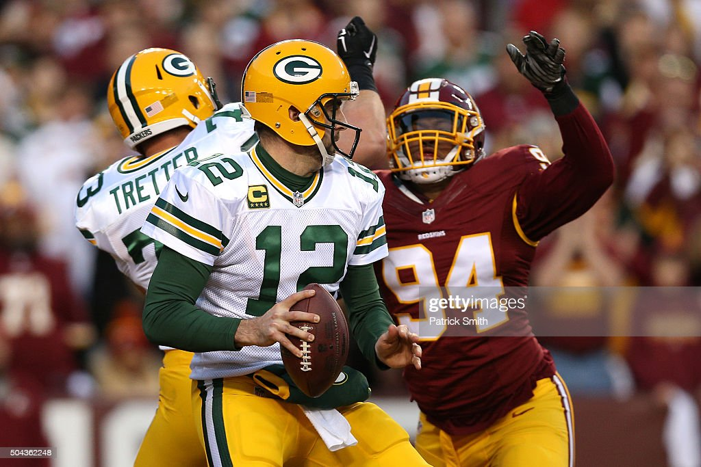 Wild Card Round - Green Bay Packers v Washington Redskins : News Photo