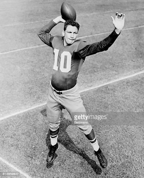 Quarterback Adrian Burk of the Philadelphia Eagles tied a National Football League Record. Burk threw seven touchdown passes as the Eagles overran...