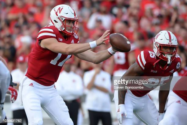 Quarterback Andrew Bunch of the Nebraska Cornhuskers takes a snap against the Colorado Buffaloes at Memorial Stadium on September 8 2018 in Lincoln...