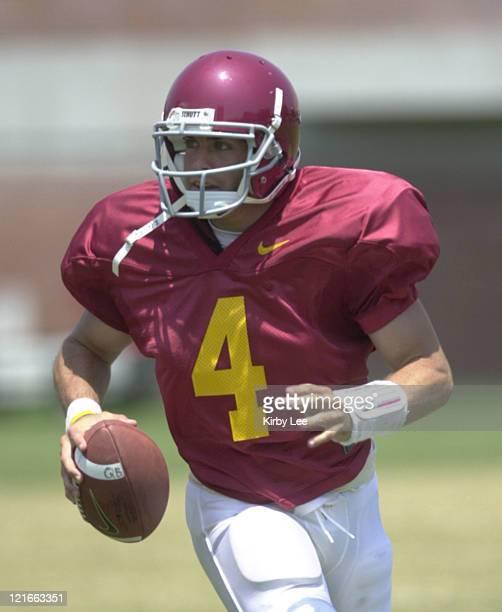 Quarterback Brandon Hance during practice at Howard Jones Field in Los Angeles, Calif. On Wednesday, August 18, 2004.