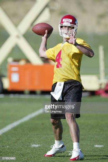 Quarterback Brodie Croyle practices during the Kansas City Chiefs Mini Camp on May 12, 2006 at the Kansas City Chiefs Training Facility in Kansas...