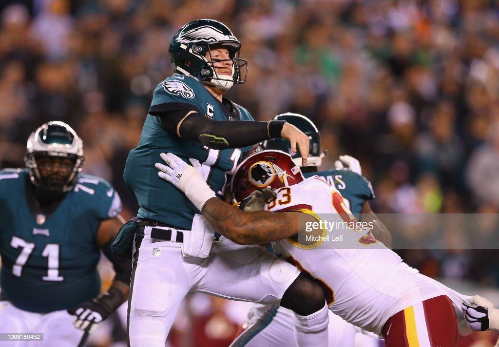 Washington Redskins v Philadelphia Eagles : Fotografia de notícias