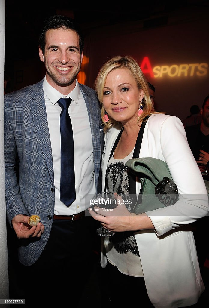 Quarterback Christian Ponder of the Minnesota Vikings and sports reporter Michelle Beadle attend CAA Sports Super Bowl Party presented By LG at Contemporary Arts Center on February 2, 2013 in New Orleans, Louisiana.