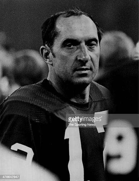 Quarterback coach Zeke Bratkowski of the Green Bay Packers circa 1971 in Green Bay Wisconsin
