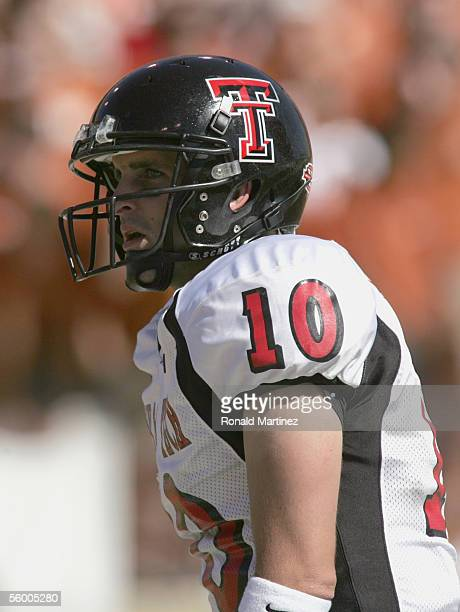 Quarterback Cody Hodges of the Texas Tech Red Raiders looks on during the game against the Texas Longhorns on October 22, 2005 at Texas Memorial...