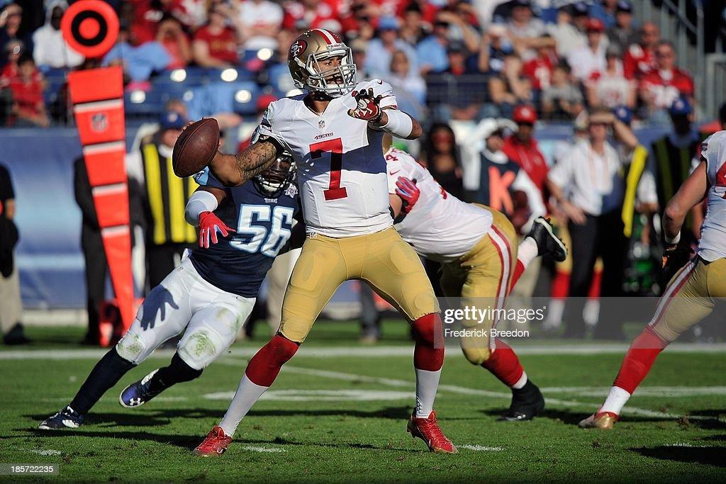 8c6815444d9 Quarterback Colin Kaepernick of the San Francisco 49ers drops back ...