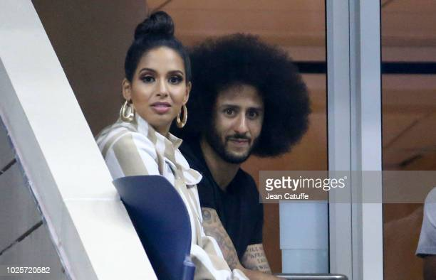 Quarterback Colin Kaepernick who became famous for kneeling during the 'The StarSpangled Banner' american national anthem before american football...