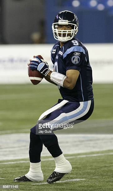 Quarterback Damon Allen of the Toronto Argonauts became the 1st CFL player and 2nd pro quarterback to surpass 70000 passing yards in a career on...
