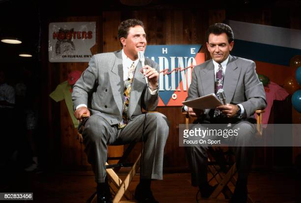 Quarterback Dan Marino of the Miami Dolphins on the Air during the Dan Marino show circa 1991 in Miami Florida Marino played for the Dolphins from...