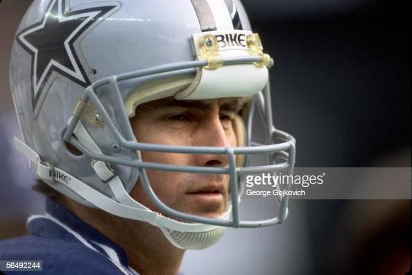 Quarterback Danny White of the Dallas Cowboys on the