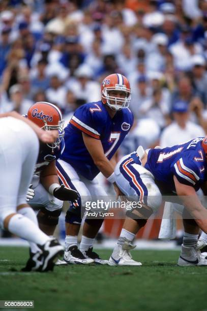 Quarterback Danny Wuerffel of the Florida Gators gets ready to take the snap during a game against the Kentucky Wildcats on September 28 1996 at Ben...