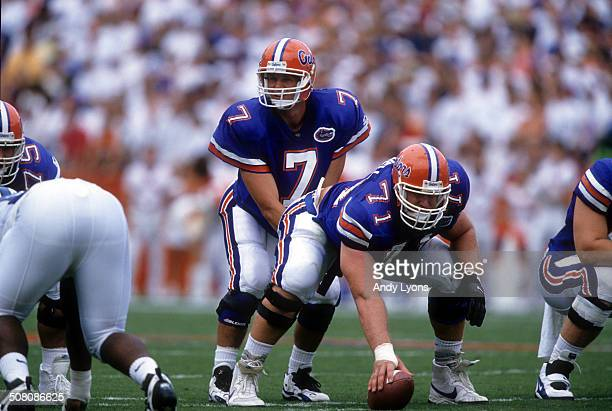 Quarterback Danny Wuerffel of the Florida Gators gets ready to take the snap during a game against the Kentucky Wildcats on September 28, 1996 at Ben...