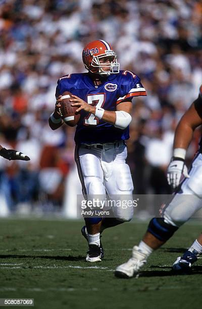 Quarterback Danny Wuerffel of the Florida Gators readies to throw during a game against the South Carolina Gamecocks on November 16 1996 at Ben Hill...