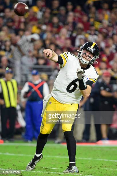 Quarterback Devlin Hodges of the Pittsburgh Steelers makes a pass in the second half of the NFL game against the Arizona Cardinals at State Farm...