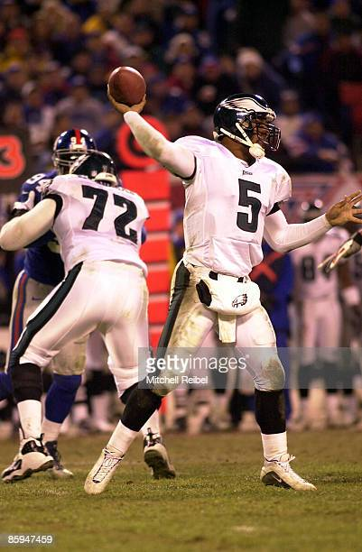 Quarterback Donovan McNabb of the Philadelphia Eagles rears back and fires the football to a open receiver The New York Giants went to defeat the...