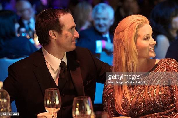 Quarterback Drew Brees and wife Brittany Brees attend A Night To Make It Right Gala at the Hyatt Regency New Orleans on March 10, 2012 in New...