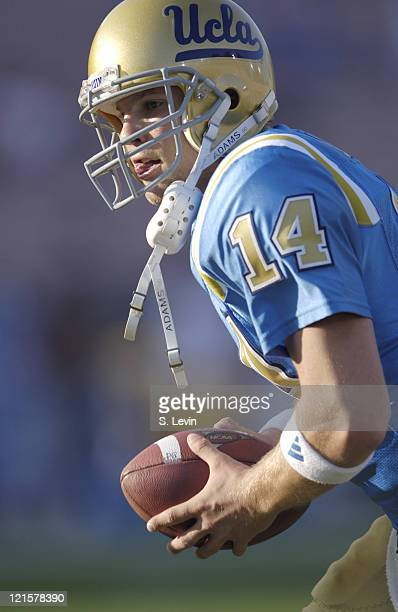UCLA quarterback Drew Olson during the Arizona State vs UCLA game at the Rose Bowl in Pasadena CA on Nov 12 2005 UCLA won their last home game of the...