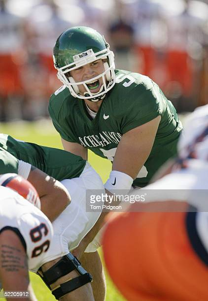 Quarterback Drew Stanton of the Michigan State University Spartans calls a play against the University of Illinois Fighting Illini during the game at...