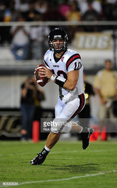 Quarterback Dustin Taliaferro of the Samford Bulldogs throws a pass against the University of Central Florida Knights at Bright House Networks...