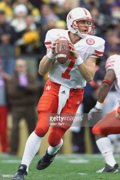 Quarterback Eric Crouch of the Nebraska Cornhuskers rolls to his right during the Big 12 Conference football game against the Colorado Buffaloes on...
