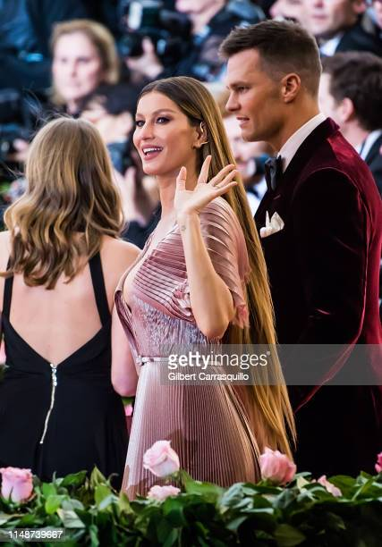 Quarterback for the New England Patriots Tom Brady and model/actress Gisele Bundchen are seen arriving to the 2019 Met Gala Celebrating Camp: Notes...