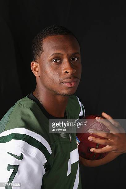 Quarterback Geno Smith of the New York Jets appears in a portrait on June 16 2015 in Florham Park New Jersey
