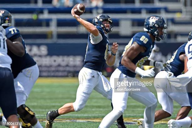 Quarterback James Morgan passes in the second quarter as the FIU Golden Panthers faced the Old Dominion University Monarchs on November 2 at Riccardo...
