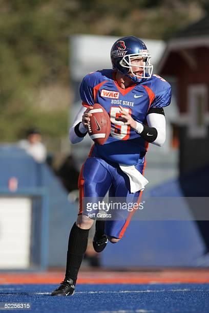 Quarterback Jared Zabransky of Boise State looks to pass against Louisiana Tech at Bronco Stadium on November 20, 2004 in Boise, Idaho. Boise State...